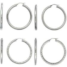 Stainless Steel 2-inch Round 4mm Tube Large Hoop Earrings #ess448