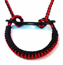 Snake Knot Bow Paracord Wrist Sling Strap Leather over 25 colors 2 choose from