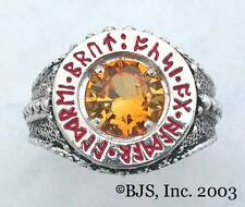 "BADALI Hobbit™ Dwarven Ring Of Power™ Silver ""Faux Topaz"" LOTR Tolkien IN STOCK"