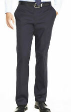 New Figlio Lontano Solid  Black  Men's  Slim Fit  Dress Pant   & Free Shipping