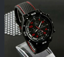 New Black Fashion Stainless Steel Luxury Sport Analog Quartz Mens Wrist Watch