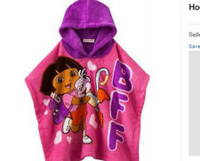 * NEW GIRLS DISNEY PRINCESS DORA MICKEY MINNIE MOUSE Hooded Poncho 3T 4T 5T