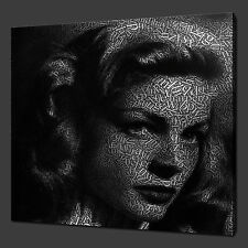 LAUREN BACALL ICONIC FILM MODERN CANVAS PRINT POP ART MANY COLOURS FREE UK P&P