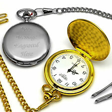 Pocket Watch Engraved Personalised Gift Wedding Favour Father's Day Present
