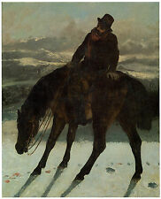 Hunter , Recovering the Trail, 1864, Gustave Courbet  -Great Horse Art on Canvas