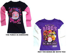 Angry Birds Star Wars Kids Girls Mock Layer Long Sleeve Shirt Tee Top NEW
