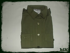 UK Army Surplus Woman's Green Olive Long Sleeve General Service Shirt  NEW