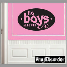 No boys allowed Child Teen Vinyl Wall Decal Mural Quotes Words CT054NoboysVII7