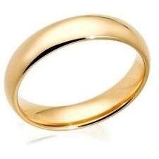 4mm Classic Wedding Engagement Band Yellow Gold Plated 316L Stainless Steel Ring