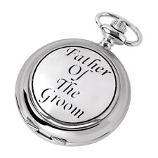 Pocket Watch Father Of The Groom Chrome with Chain Woodford 1886 New