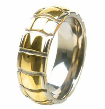 8mm Titanium Ring Alloy/Metal Band Multi-Colored No Stone sparkle-jewelry