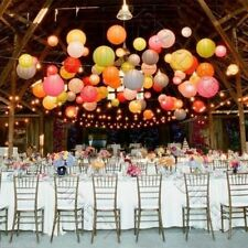 "10X Round Multi Paper Lanterns 12"" 14"" 16""18"" 20"" Wedding Party + Led Light Deco"