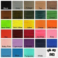 550 Paracord Mil Spec Type III parachute cord 10ft 20ft 50ft or 100ft