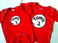 THING ONE AND THING TWO T SHIRT THING 1 AND THING 2 ADULT T ALL SIZES DR SEUSS