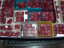 Scrabble Burgundy Maroon Red Letters From 50 cents - burgandy tiles Single Tiles