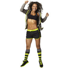 ZUMBA FITNESS OUTFIT 2p set GYM RUNNING SHORTS & HIP HOP KNEE SOCKS DANCE!  S  M
