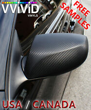 "VViViD Black Carbon Fiber BCF3M01 15ftx5ft 180""x60"" Vinyl Wrap Air Release Tech"