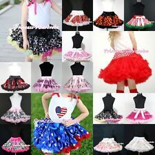 Pattern Multi-List Pettiskirts Skirts Pageant Party Dance Flower Girl Dress 1-8Y