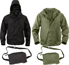 Waterproof Packable Outerwear Rip-Stop Rain Jacket
