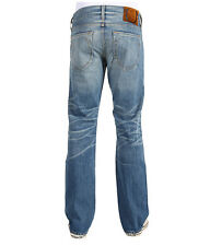 NEW True Religion Jeans Mens Bobby Snake Eyes Straight Leg Hangmhigh Blue Denims
