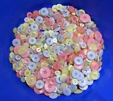 25g To 50g Mixed Buttons Assorted Colours Shapes Choose Colour & Weight