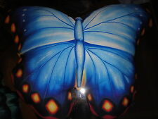 SALAMANDER GRAPHICS BUTTERFLY PILLOWS RED ORANGE BLUE OR GREEN BLUE BLACK