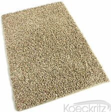 Frieze Shag Area Rug Sedona Beige 32 oz Soft Living Room Dining Room Bedroom