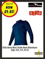 Precision Thermal Base Layer Turtle Neck Top Navy Kids Age 5 6 7 8 9 10 11 12