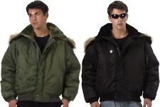 N-2B Flight Jacket Parka Heavy Insulated Cold Weather Military Flight Coat