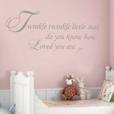 **TWINKLE TWINKLE LITTLE STAR - Wall Quote Sticker **