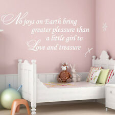 **LITTLE GIRL TO LOVE - CHILD'S / BABY NURSERY  Wall Quote Sticker Decal ART