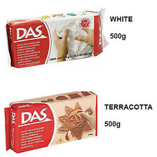 DAS Air Drying Clay Craft Modelling Clay | White, Terracotta | 500g