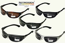 Nitrogen POLARIZED Sport Sunglasses Silver Black Tortoise Brown GOLF FISHING