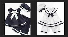 * NEW GIRLS RARE EDITIONS SAILOR 3-Piece Set SUMMER OUTFIT SET 12M 18M 24M