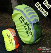 Scotchlite High Viz Waterproof Backpack Rucksack Bag Rain Cover Cycling Running