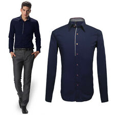 2014 New Luxury Mens Slim-Fit Formal Casual Dress Shirts Comfy Tops Cool Shirts