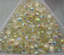 Jelly Crystal white AB Crystal Multiple faceted resin Flat Back Rhinestones glue