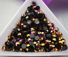 Jelly Golden rose AB Crystal Multiple faceted resin Flat Back Rhinestones glue