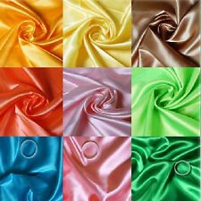 "60"" wide Satin fabric BY THE METER bridal wedding dress crafts costume sew"