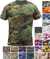Camo T-Shirt Military Short Sleeve Tee, Army Camouflage Tactical Uniform Tshirt