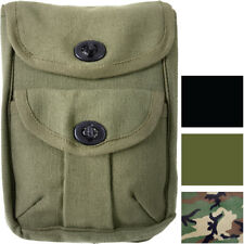 Canvas 2 Pocket Military Ammo Army Pouch
