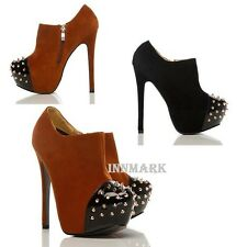 295 ANKLE SHOES SPIKE STUDS TOE ZIP BOOTS ONLINE STORE INNMARK  UK 3-8  EU 36-41