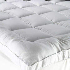 Washable Pillowtop Mattress Protector Topper 5 Sizes 1000GSM 100% Cotton Cover