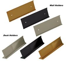 Office Name Plate Holders Fits Standard Wall Mount and Desk Top Name Plates