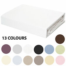 100% Cotton 250TC Fitted Sheet & Pillowcase Set - 5 Bed Sizes - No Flat Sheet