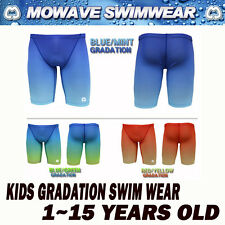 mowave kids gradation half pants shorts jammer swimwear competition 1~15yearsold