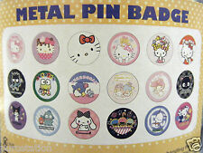 NEW Sanrio Metal Pin Badge*Hello Kitty,Keroppi,Pochacco,Badtz Maru,Kuromi & more