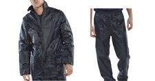 Rainsuit Waterproof Suit Jacket And Trousers, Navy, Sizes - Small to 5XL, B Dri