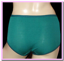 VINTAGE BEAR BRAND BOTTLE GREEN NYLON SCHOOL KNICKERS PANTIES PANTS S/M/L SIZES