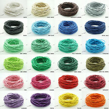 1.5mm Waxed Cotton Braided Cord Wax Macrame Beading Jewelry String - 20 Yards